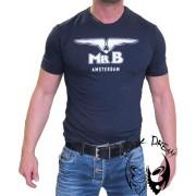 Glow Mister B T-shirt blue
