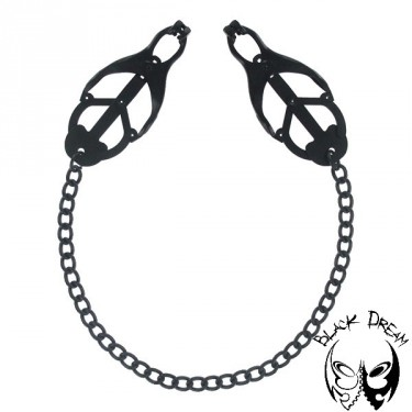 japanese-clover-clamps-with-chain-black