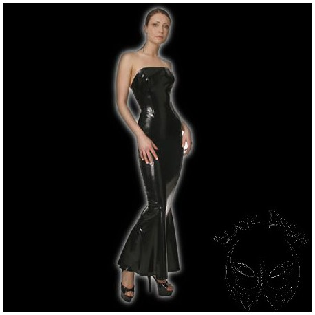 latex-corset-dress-with-godet