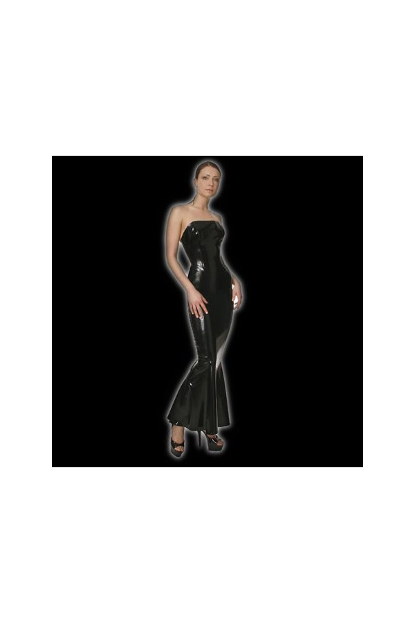 latex-corset-dress-with-godet