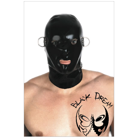 Latex hood with D-rings