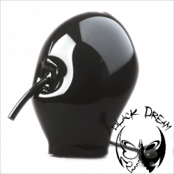 Inflateable mask, with mouth tube