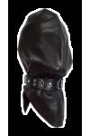 Leather headbag with collar