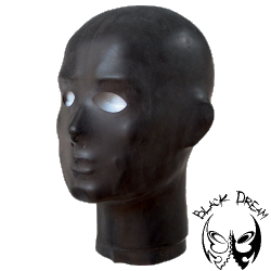 Thin rubber anatomical hood