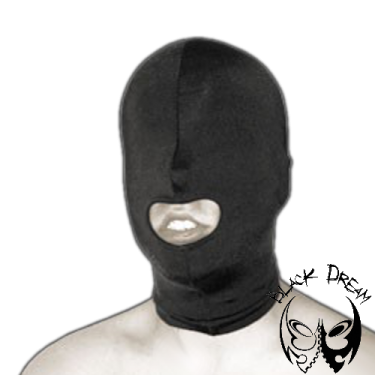 Spandex mask with mouth opening
