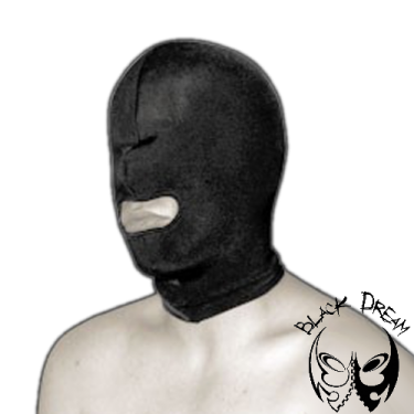 Double-layer spandex mask with mouth opening