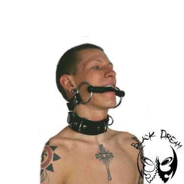 Snaffle with rubber gag