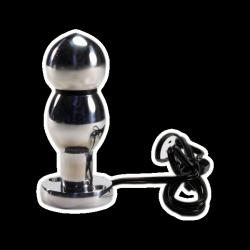 Kétpólusú golyós electro butt plug