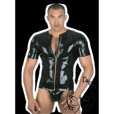 Short sleeve shirt, full length front zip