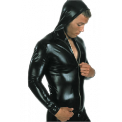 Hooded top with full length zip