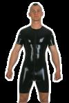 Surf suit, 3-way around zip