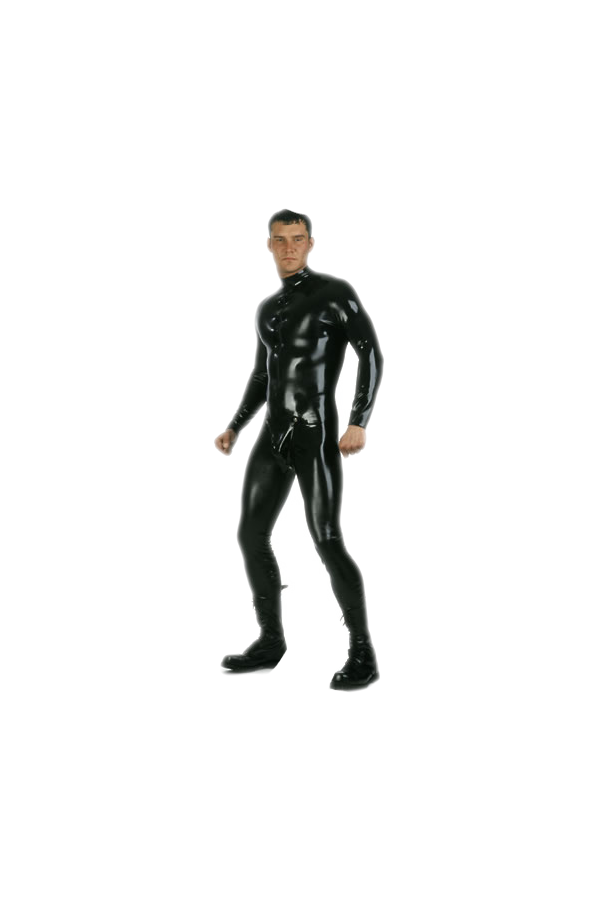 Catsuit with codpiece, front zip
