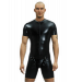 Cycle suit with codpiece, front zip