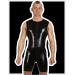 Latex surf suit, sleeveless