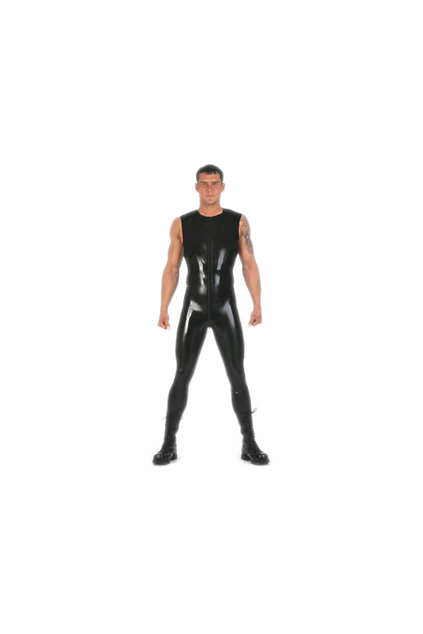 Latex full body suit, sleeveless