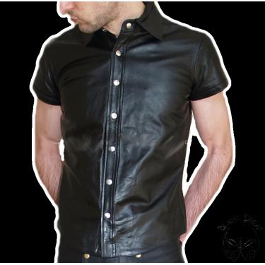 Leather shirt - cowhide plain