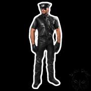 Leather shirt - uniform style