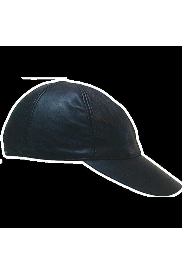 Leather baseballcap