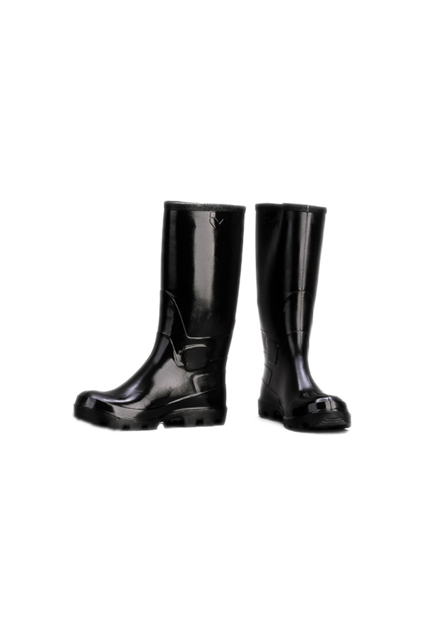 Rubber boots, knee-length, unlined