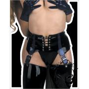 Suspender belt, front laced