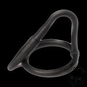 Sperma-stop plug szilikonból - fekete