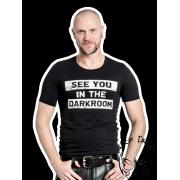 Mister B DARKROOM póló - fekete