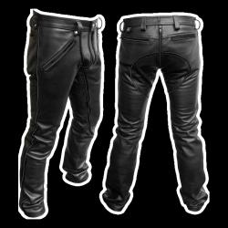 Mister B  FXXXer bőrnadrág - fekete