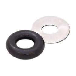 Silicone Stretch Ring 2-Pack Black + Clear