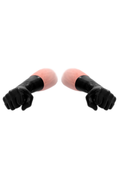 FistIt latex rövid kesztyű - fekete