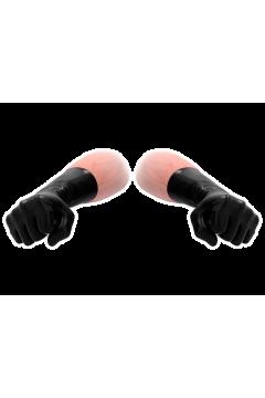 FistIt Latex Short Gloves - Black