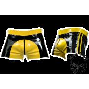 Latex rövidnadrág sárga betéttel