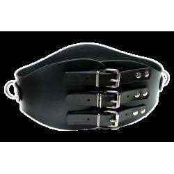 Rubber bondage belt