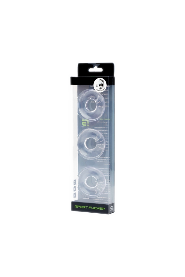 Chubby Rubber Cockring 3-Pack - Clear